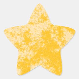 Orange1 Soft Grunge Design Star Sticker