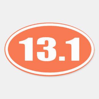 Orange 13.1 Sticker | Half Marathon