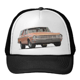 Orange 1964 Dodge Station Wagon Cap