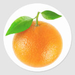 Orange #1 round sticker
