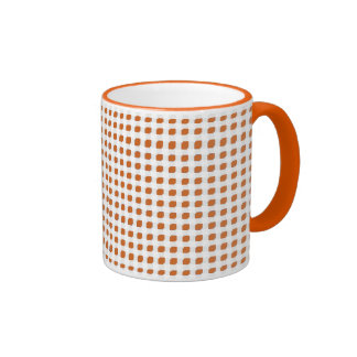 Orange 3 Side Boxes Ringer Mug