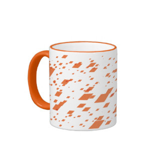 Orange 3d Boxes Ringer Mug