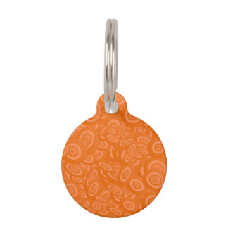 Orange Abstract 45s Pet Nametags