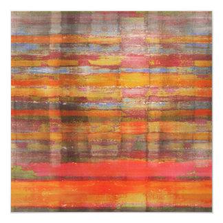 Orange Abstract Art Invitation Card