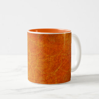 orange abstract background Two-Tone coffee mug