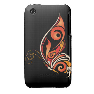 Orange Abstract Butterfly iPhone 3 Case-Mate Cases