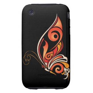 Orange Abstract Butterfly iPhone 3 Tough Cover