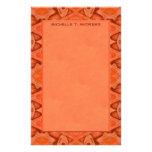 orange abstract customised stationery
