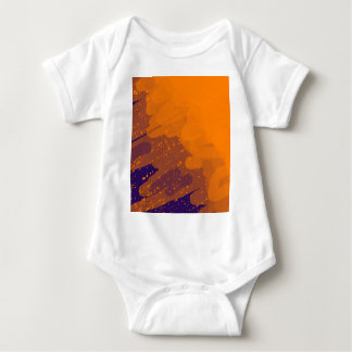Orange abstract design by Moma Baby Bodysuit