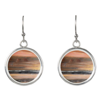 Orange Abstract Drop Earrings