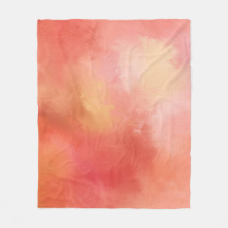 Orange Abstract Fleece Blanket