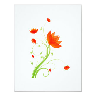 orange abstract flower eco graphic.png personalized announcements