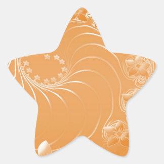Orange Abstract Flowers Sticker