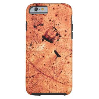 Orange abstract grunge contemporary art tough iPhone 6 case