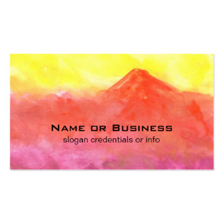 Orange Abstract Mountain Volcano Landscape Pack Of Standard Business Cards