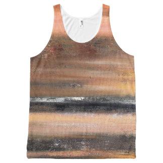 Orange Abstract Tank Top