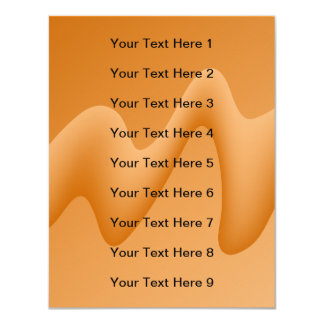 Orange Abstract Wave Image. 11 Cm X 14 Cm Invitation Card