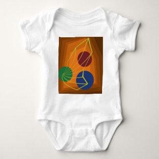 Orange abstraction baby bodysuit