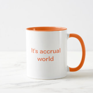 Orange accounting mug