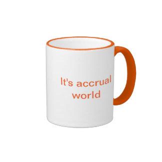 Orange accounting mug