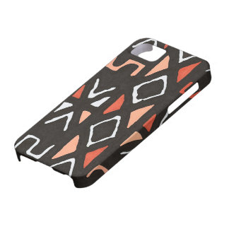 Orange African Mudcloth Tribal Print Case For The iPhone 5