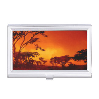 Orange African Sunset Business Card Cases