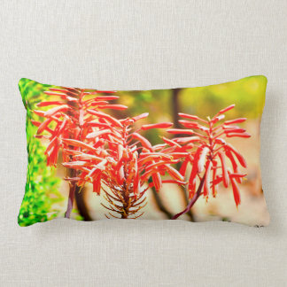 Orange Agave Blooms Pillow