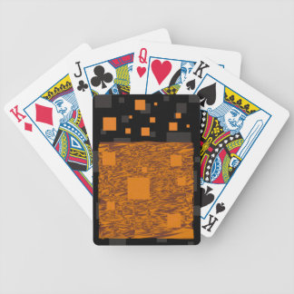 Orange alert float abstract Halloween black box Bicycle Playing Cards