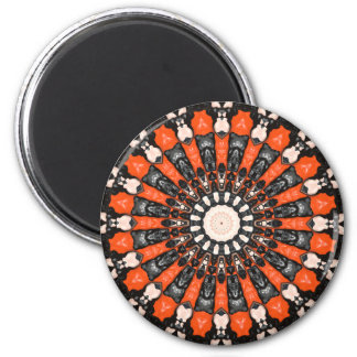 Orange And Black Abstract Magnet