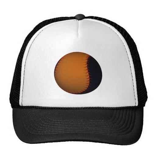 Orange and Black Baseball / Softball Mesh Hats