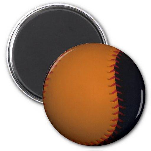 Orange and Black Baseball / Softball Magnets