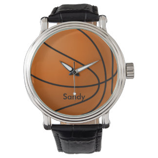 Orange and Black Basketball Watch