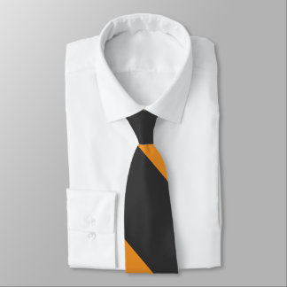 Orange and Black Broad University Stripe Tie