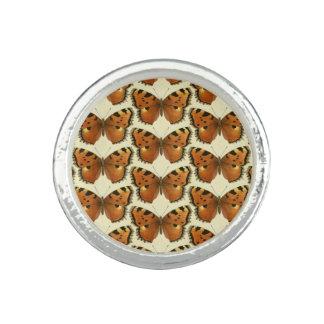 Orange and Black Butterflies Pattern