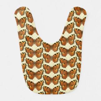 Orange and Black Butterflies Pattern Bib
