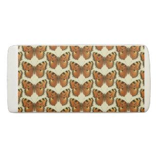 Orange and Black Butterflies Pattern Eraser