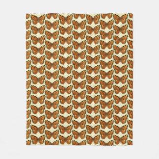 Orange and Black Butterflies Pattern Fleece Blanket
