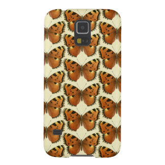 Orange and Black Butterflies Pattern Galaxy S5 Cases