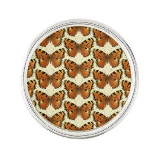 Orange and Black Butterflies Pattern Lapel Pin