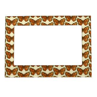 Orange and Black Butterflies Pattern Magnetic Frame
