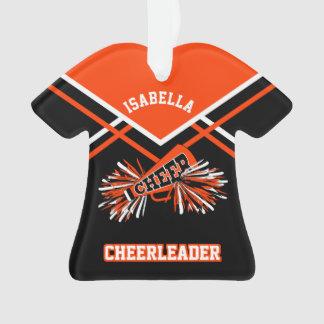Orange and Black Cheerleader Ornament
