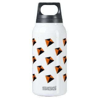 Orange and Black Diamond Kites Insulated Water Bottle