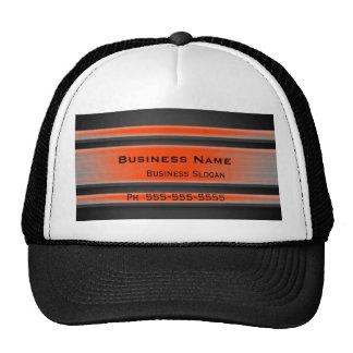 Orange and Black Metal Look Advertising Cap