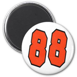 ORANGE AND BLACK NUMBER 88 FRIDGE MAGNETS