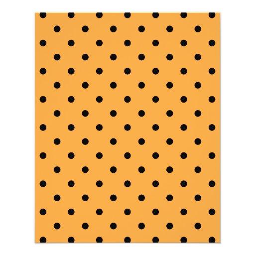Orange and Black Polka Dot Pattern. Flyer Design