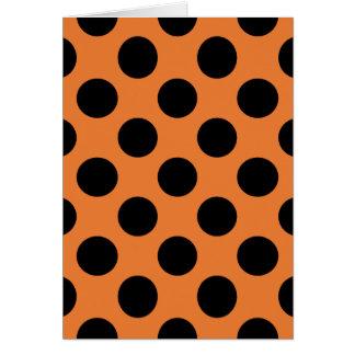 Orange and Black Polka Dots Card