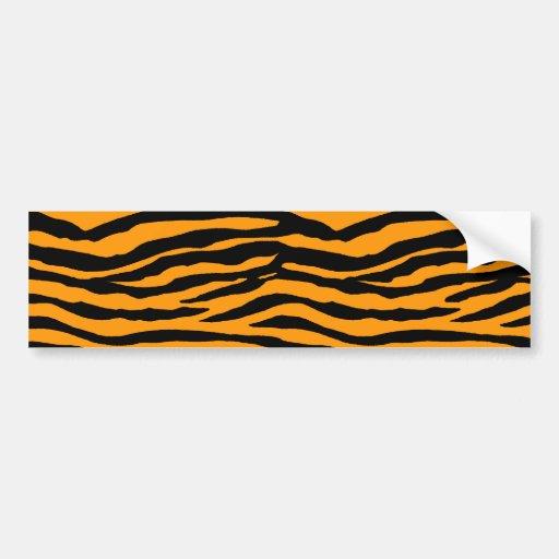 Orange and Black Tiger Stripes Bumper Sticker