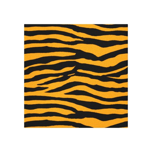 Orange and Black Tiger Stripes Gallery Wrap Canvas