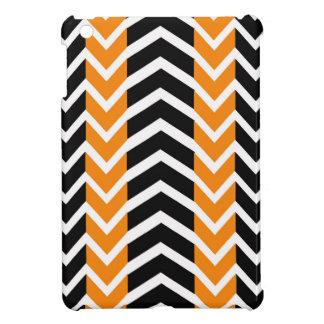 Orange and Black Whale Chevron Case For The iPad Mini