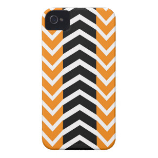 Orange and Black Whale Chevron iPhone 4 Case-Mate Cases